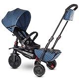 SMARTRIKE 7 Tricycle Évolutif Pliant, Bleu