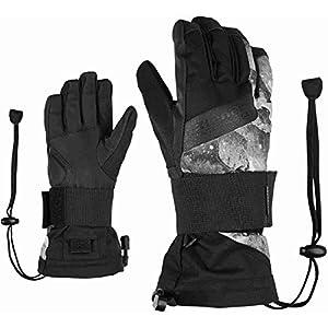 Ziener Kinder MIKKS AS JUNIOR glove SB SnowboardHandschuhe Mit Protektor   wasserdicht, atmungsaktiv, Grey Mountain Print, L