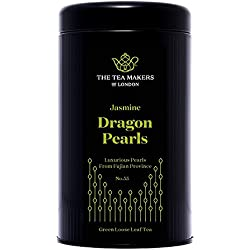 The Tea Makers of London Jasmin Dragon Pearls Teeperlen grüner Tee von prämiertem Teekontor Geschenkidee, 1er Pack (1 x 100 g)