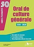 Oral de Culture Generale 2019-2020