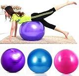#7: Zamp E Commerce Anti-Burst Fitness Exercise Stability Yoga Ball / Swiss, Birthing, Gym Ball 75 Cm (Multy Color)