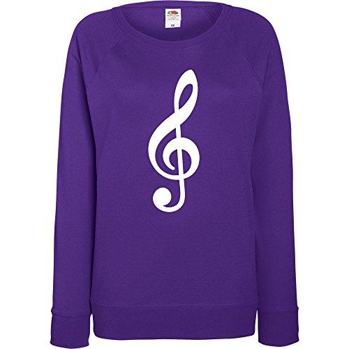 TRVPPY - Sweat Pull, modèle CLEF - Femme, différentes tailles et couleurs Violet