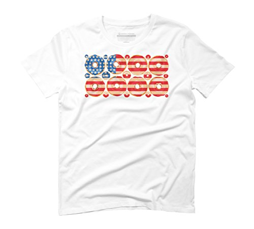 USA donuts Men's 3X-Large White Graphic T-Shirt - Design By Humans