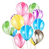 Vegkey Luftballons, Luftballons Bunt,100 Stück Achat Luftballon Luftballons Bunte Ballons, Ballon und Partyballon, Farbige Ballons für Party Geburtstags Kindergeburtstag Hochzeit
