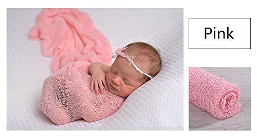 Envoltorio elástico para fotos de bebé recién nacido, color rosa