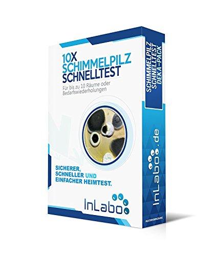 Original InLabo 10x Schimmelpilz Schnelltest - unser bester Schimmeltest für Wohnung und Haus