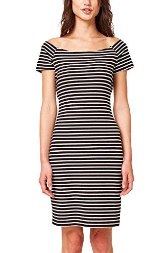 ESPRIT Damen 078EE1E003 Kleid, Schwarz (Black 2 002), Small