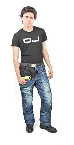 OJ - Pantalone Doppio Strato 4 Stagioni, 100% Impermeabile Freestyle Pant, Jeans, L