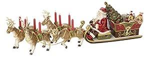 Villeroy & Boch Christmas Toys Memory Giro in Slitta Babbo Natale, Porcellana, Rosso, 43.5 x 43.5 x 25 cm
