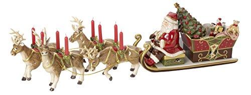 Villeroy & Boch Christmas Toys Memory Spieluhr 'Santas Schlittenfahrt', Porzellan, Bunt
