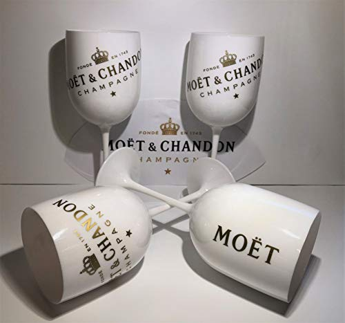 Moet Chandon Weiss Ice Imperial Champagner Limited Ibiza Edition (Weiss) 4Stück (4pcs.)