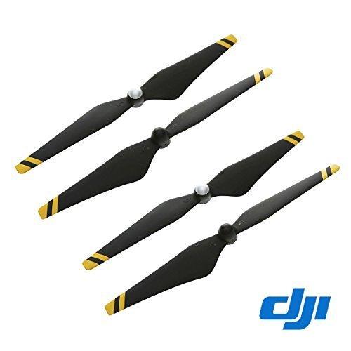 DJI Phantom 3 E305 9450 Props Carbon Fiber Reinforced Selbstanzugs Propellers (Composite Hub, schwarz mit gelben Streifen) Für Phantom 3 Professional, Advanced, Phantom 2-Serie, Flamme Rad Serie-Plattformen und der E310 / E305 / E300 abgestimmt Antriebssysteme Schwarz-W / gelben Streifen 2 Paar