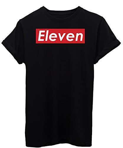 T-shirt eleven logo stranger things - famosi - maglietta image - bambino-xl-nera