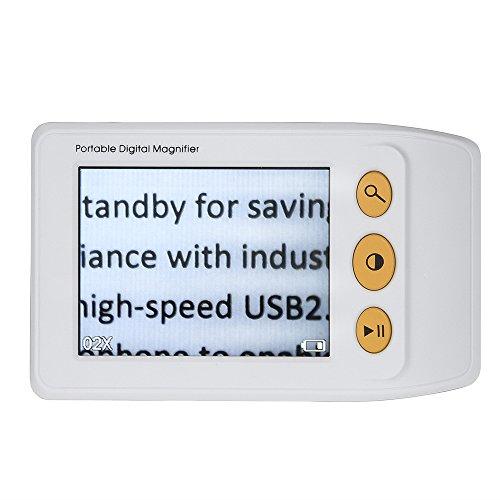 Preisvergleich Produktbild Uphig Eyoyo 8, 9 cm Vergrößerung 2-25 x Palmtop-Video Digital Lupe Elektronische Lesehilfe mit mehreren Farbe Modi für Low Vision