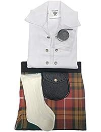 Antique Buchanan Tartán ropa de bebé ajustable de estilo celta, manguera, Sporran 0–24meses