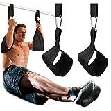 Doben hangende abstraps armbanden voor buiktrainingsapparaten met D-ring-snelsluitingen, scheurvaste fitnessriem, buikriem, paar voor optrekstang, hangende beensteun