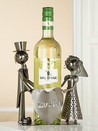 Gilde Flaschenhalter Weinflaschenhalter Hochzeitsgeschenk 'Just Married '