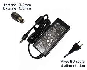 """AC Adaptateur secteur pourToshiba Satellite A100-01 A100-110 A100-307 A100-335 A100-386chargeur ordinateur portable, adaptateur, alimentation """"Laptop Power (TM)"""" de marque (avec câble d'alimentation européen)"""