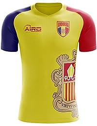 Airo Sportswear 2018-2019 Andorra Home Concept Football Soccer T-Shirt Camiseta