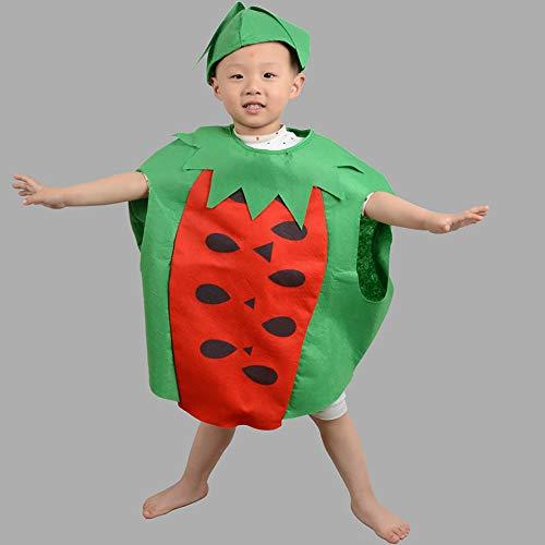 XIAXIACP Halloween Kindertag Kinder Kostüme Obst Party Kleid Erdbeere Banane Wassermelone Apfel Sommer Set,C