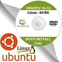 Ubuntu Linux 16.10 64 Bit Operating System Install Live Bootable DVD