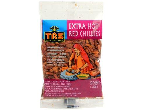 TRS - Rote Getrocknete Chili Schoten - 50g - Extra scharf