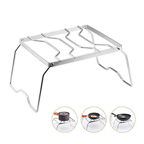 Overmont grill pieghevole bbq griglia e portatile in acciaio inossidabile supporto grilla per utensili da cucina picnic campeggio taglia m/l