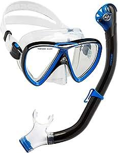 Cressi Ikarus & Orion Dry, Scuba/Snorkeling Combo Set Unisex Adulto, Trasparente/Nero/Rosa, Unica