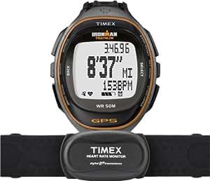 Timex - T5K575HE - Ironman Run Trainer - Montre GPS Homme - Bracelet Résine - Alarme/Chronomètre - Moniteur de fréquence cardiaque