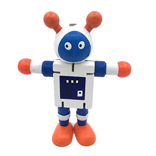 Peahop Hölzerne Walnuss Puppen Roboter Action Toys Flexible Gelenke Roboter Kinder