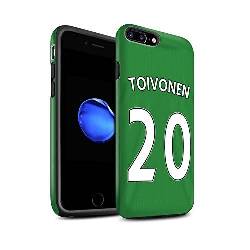 Officiel Sunderland AFC Coque / Matte Robuste Antichoc Etui pour Apple iPhone 7 Plus / Khazri Design / SAFC Maillot Extérieur 15/16 Collection Toivonen