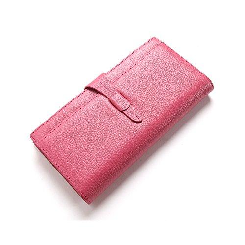 Grande capacità lusso Portafoglio da donna in pelle, borse-Portafogli con portamonete e porta carte di credito e tasca con Pocket Red Rose