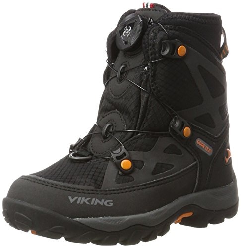 Viking Unisex-Kinder Kjetil Boa Outdoor Fitnessschuhe, Schwarz (Black/Orange), 33 EU