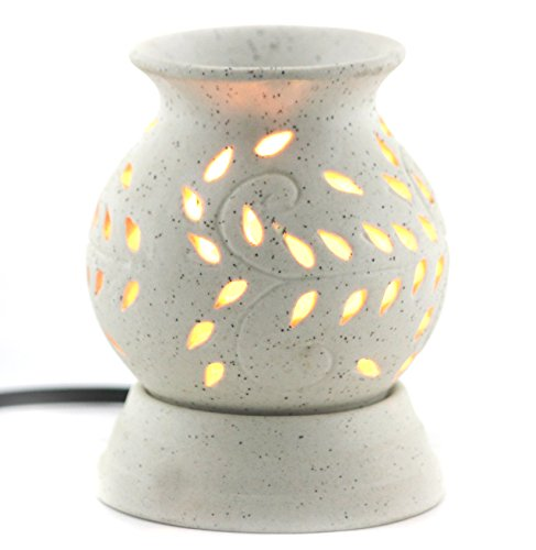 Brahmz Electric Aroma Oil Diffuser Electric Ancient Matki Diffuser with Bulb Electric Aroma Burner Electric Diffuser Matki Shape WD 12cm