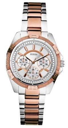 Guess W0235L4 - Reloj de pulsera para mujer, color blanco/plata