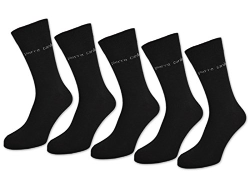 10 Paar Pierre Cardin Socken Herrensocken Baumwolle Business Socken Herren Socken Schwarz Blau Grau (47-50 | 10 Paar, Schwarz)