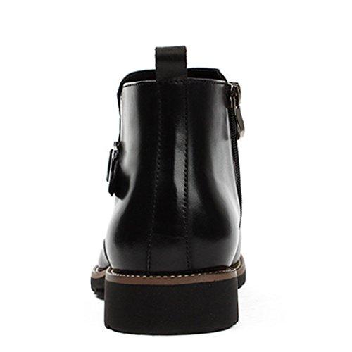 Scarpe Uomo in Pelle Martin Boots Scarpe in pelle da uomo Scarpe alte in stile britannico a punta ( Colore : Nero , dimensioni : EU 41/UK7 ) Nero