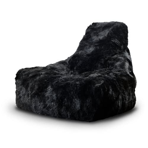 41YJvWjGpvL. SS500  - Mighty 100% Sheepskin Fur B-bag Indoor Bean Bag. More than just a Bean Bag this is an EXTREMELY COMFORTABLE piece of furniture - 4 colours to choose from (Black)