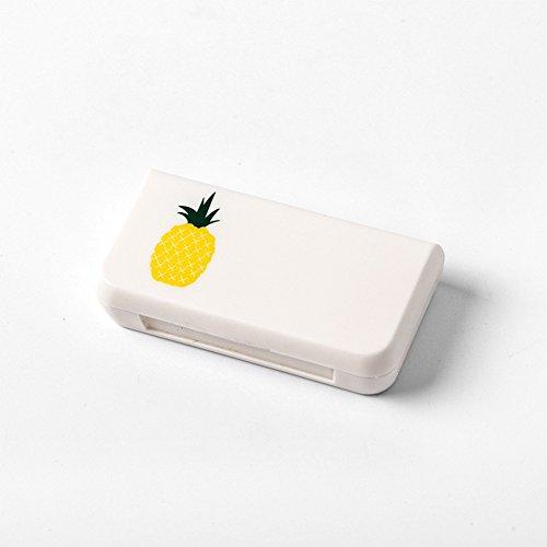 Pillendose Medizin Lagerung Reise Verwenden Tragbare Außenbehälter Werkzeug Hygeian 3-grid Feuchtigkeitsbeständig Sicher Gesundheitswesen (Kaktus)(Ananas)