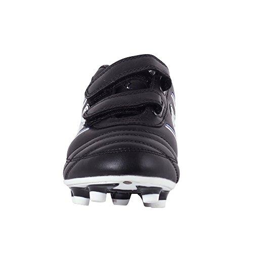 Optimum Jungen Tribal Boot-Velcro Moulded Stud Fußballschuhe Schwarz (Schwarz/Blau)