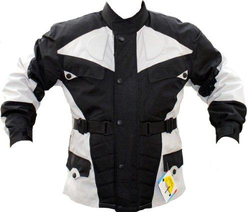 German-Wear Motorradjacke, Schwarz/Hellgrau, XL