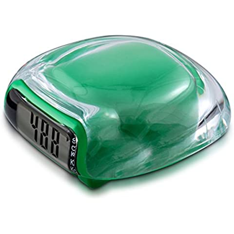 kwmobile Contador de pasos Podómetro cuenta calorías, Pantalla LCD, contador de pasos, stepcounter en verde