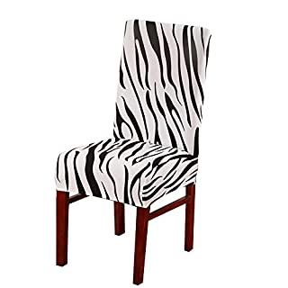Artistic9 Universal Chair Covers Polyester Stretch Spandex Chair Cover Banquet Elastic Removable Comfortable Slipcover for Wedding Banquet Party Decoration 1PC (C)