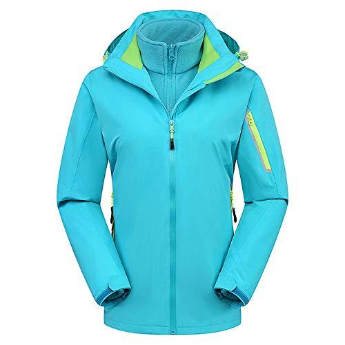 (Luckycat Frauen Winter Reine Farbe Zweiteilige Outdoor Outfit Windjacke warmen Mantel Jacken Mäntel Sweatjacke Winterjacke Fleecejacke Steppjacke)
