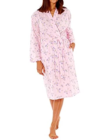 Womens Ladies Summer Long Dressing Gown Robe Cotton Soft Varies