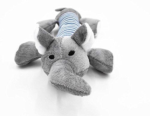 Kleiner Hund Spielzeug Squeak Squeaker Spielzeug Plush Baseball Ente Elefant Schwein, Durchmesser Größe 10 * 1.5 / 25 * 4cm - Elefant