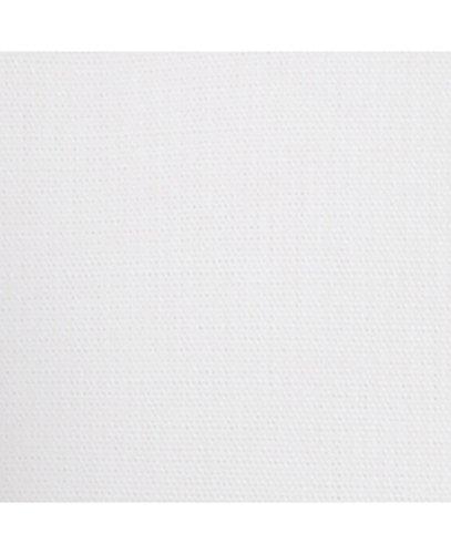 Savile Row Men's White Poplin Button-Down Classic Fit Single Cuff Shirt White