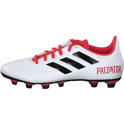 adidas Herren Predator 18.4 FxG Fußballschuhe, Schwarz Schwarz (Ftwr White/core Black/real Coral S18)