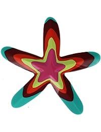 Les Poulettes Bijoux - Broche Etoile de Mer Résine Multicolore