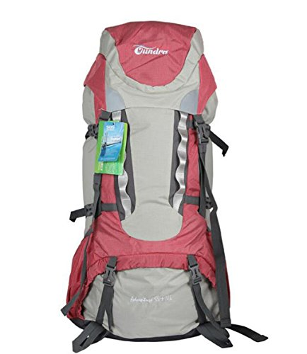 pacchetto di arrampicata all'aperto 55L + 10L borsa zaino trekking viaggio grande capacità di carico professionale ( Colore : Blu , dimensioni : 55+10L ) Rosso
